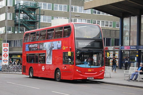 "Blue Triangle E166 ""on Route 687"", Barking Station"