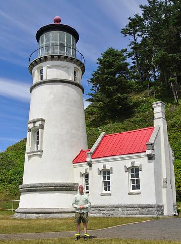 Coast Tour 2016 day 12 - yrs trly at Heceta Head Lighthouse