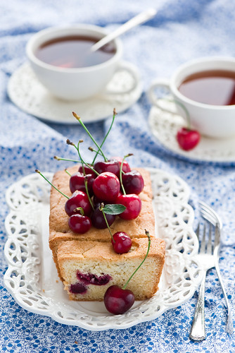 Cake with cherries | by The Little Squirrel