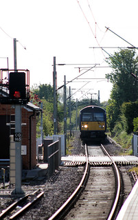 360 108 1F29 0740 Walton-on-the-Naze - Colchester is seen approaching Frinton Level Crossing at Frinton On Sea (0742) Monday 14th May 2012 | by Colin.P.Brooks Railway Photography & Frinton
