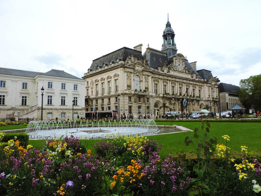 Festival Of Flowers: Hotel de Ville de Tours, France