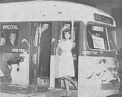 "Miss Press Club on ""Teardrop Trolley,"" March 30, 1963 