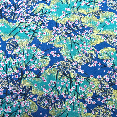 carole fabrics jobs luxury golden acqua japanese kimono fabric 10153