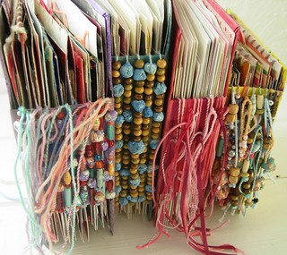 Recycled Greeting Cards Journals Spines | by Jennibellie
