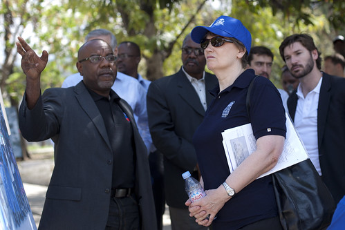 Helen Clark visits Place St. Pierre, former IDP camp whose residents have all been rehoused | by United Nations Development Programme