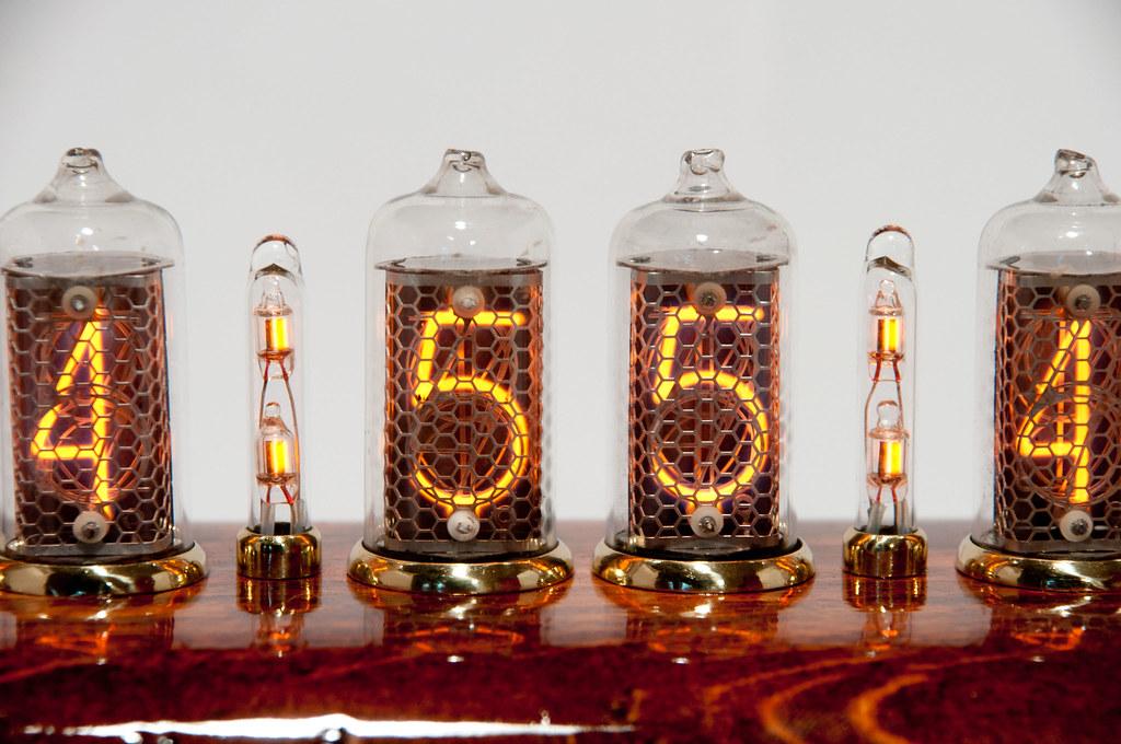 hius clock on tubes