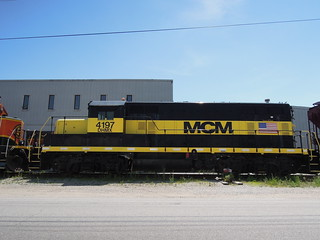 Black and Yellow DHMX 4197 MCM GP7u Locomotive at Valley Park, MO_DSCN8362 | by Wampa-One