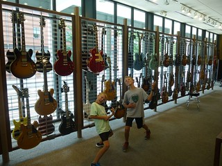 Wall o' guitars
