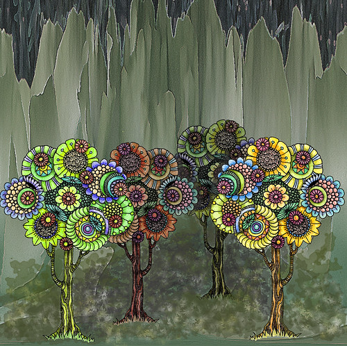 rainbow trees 3 | by bostinstuff