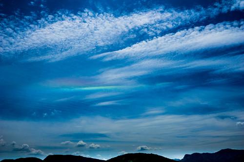 Aurora borealis über dem Lago Maggiore - strange !!!