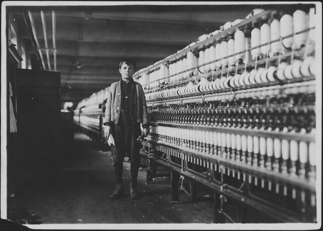 Andrew Stefanik, a bobbin boy, works as spare boy, November 1911