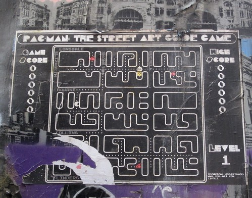 Pac-man: street art map | by Daniel Bowen
