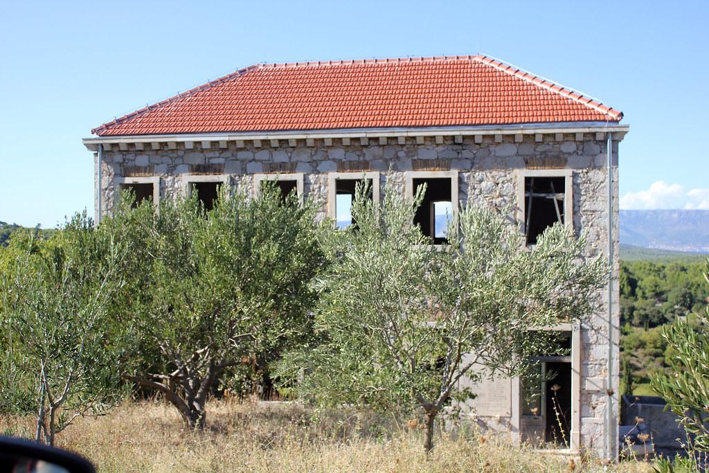 Hvar Croatia abandoned stone house