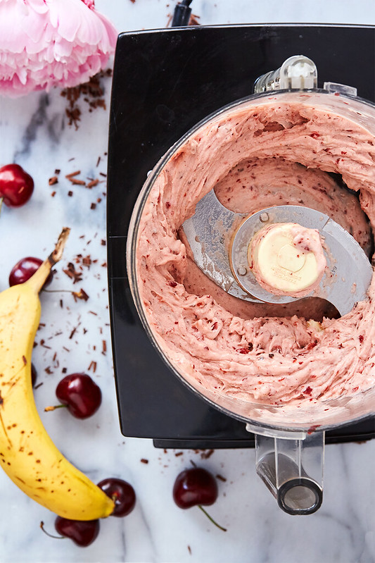 Cherry Chocolate Chunk Banana Soft Serve {gluten-free, paleo, vegan}