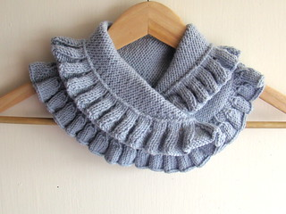 Hand knitted Grey Blue Neck Warmer | by Pure Craft