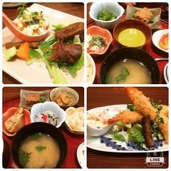 hubs fave❤︎ #kamizono #minoo #osaka #かみぞの #箕面 #大阪 #肉巻き #海老フライ #小鉢 #美味しい #野菜