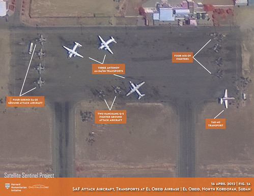 SAF Attack Aircraft, Transports at El Obeid Airbase | by ENOUGH Project