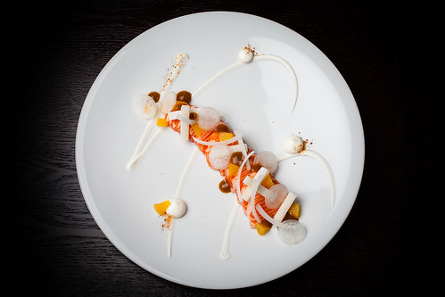 Mezcal-cured ocean trout with cream cheese, orange, and sal de gusanos 08 | by Gilt Taste Plates
