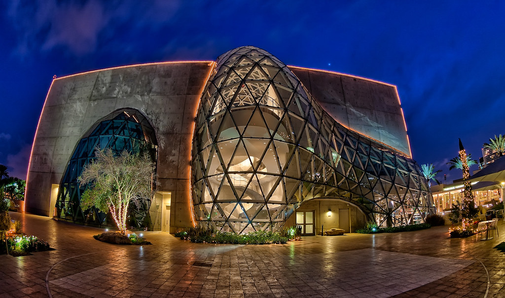 Salvador Dali Museum Fisheye at Night