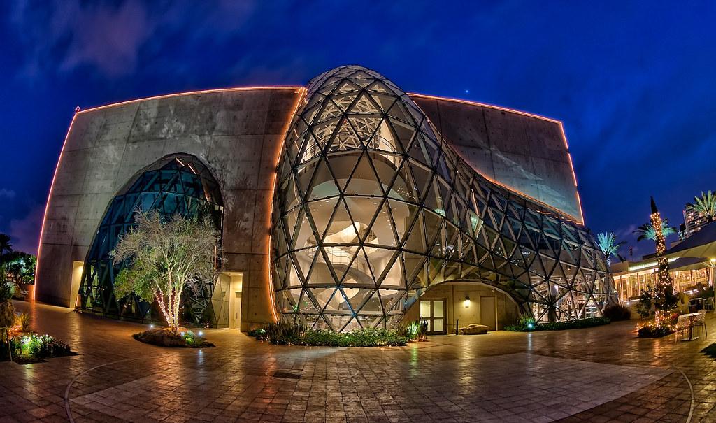 Salvador Dali Museum Fisheye at Night