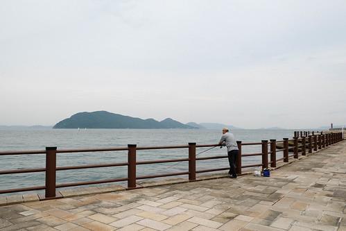 瀬戸内海を眺める