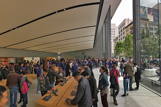 Apple Store - San Francisco Store lobby tables