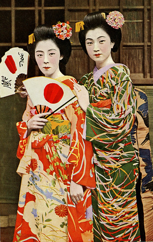 Maiko Fumi and Friend 1940s | by Blue Ruin 1
