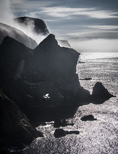 Cliffs & stratus. Fair Isle | by dawadderman