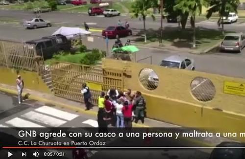 ¿Esta es la GNB que nos merecemos?, ¿Así es que la GNB protege al pueblo?. Esto paso en Puerto Ordaz