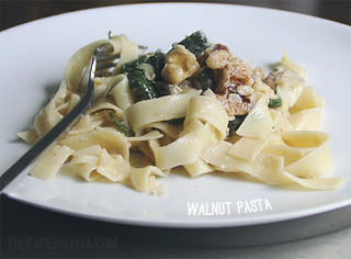 Walnut Pasta | by The Paper Mama