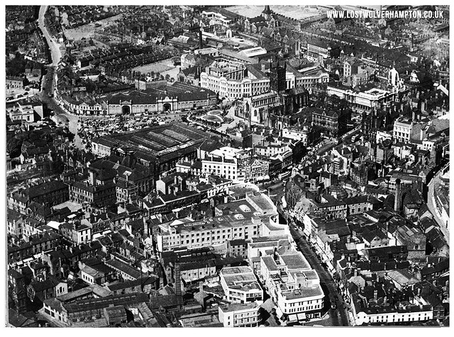 St Peter's Ward seen from the air in 1937