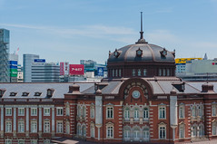 Shooting from the Shin-Marunouchi building in up to Tokyo Station