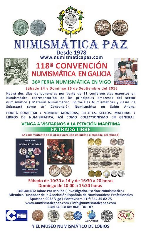 I CONGRESO Y 36ª FERIA NUMISMÁTICA DE VIGO 27133520954_c9aa61d9f7_c