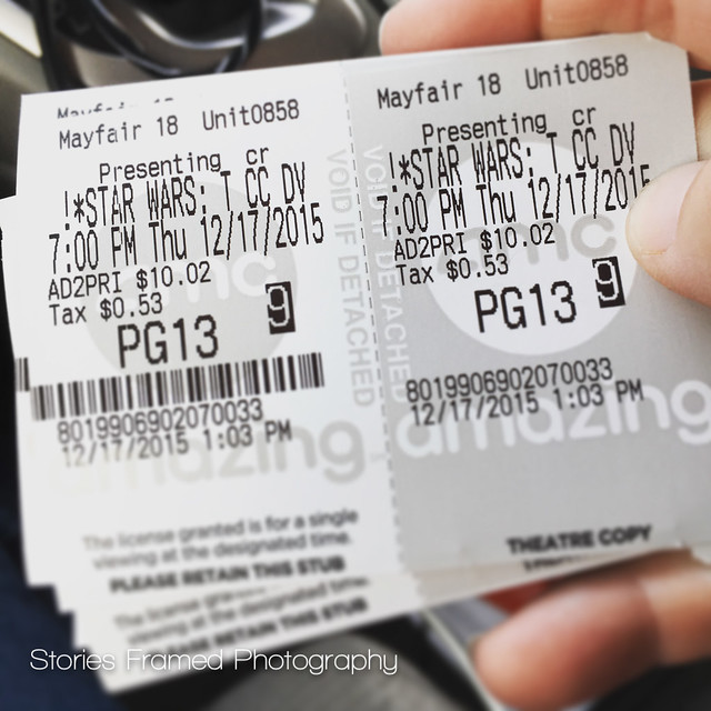 351. | tickets for star wars.