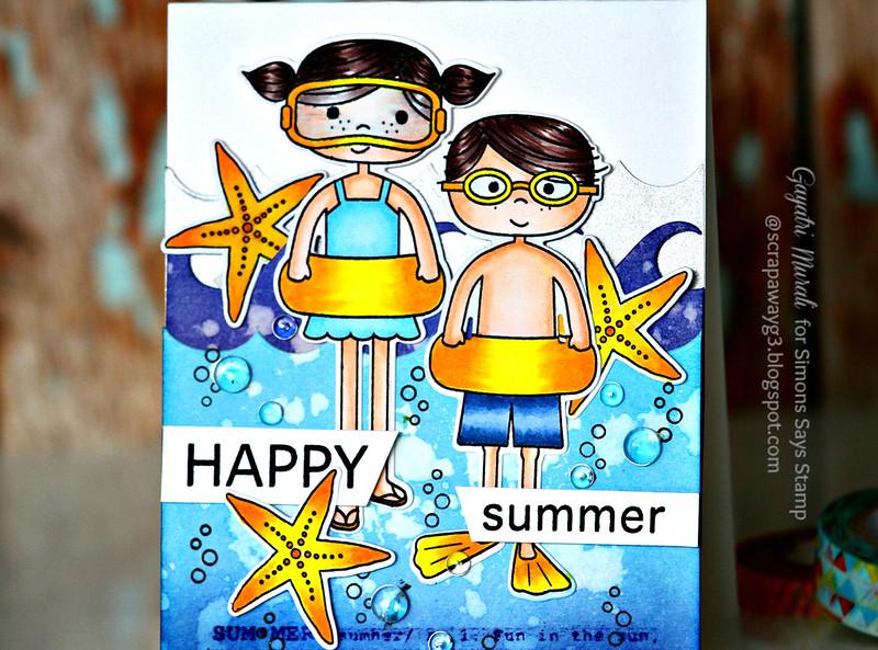 Happy Summer card closeup #1