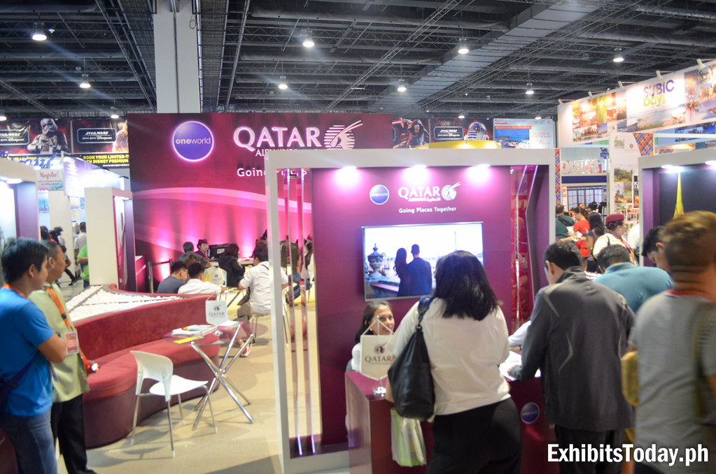 Qatar Airlines Exhibit Booth