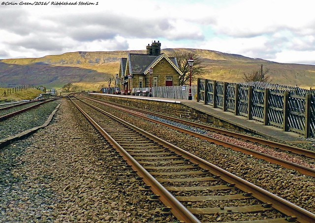 Ribblehead Railway Station in the Scenic Yorkshire Dales.