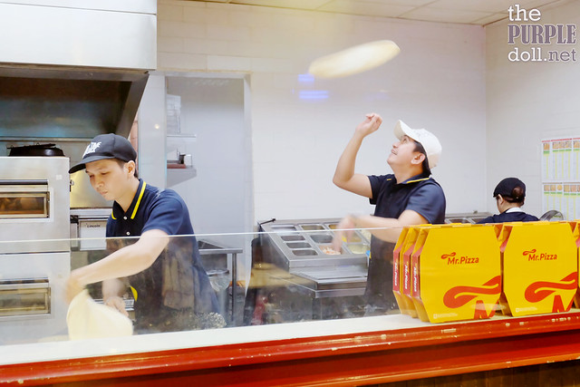 Handmade pizzas and pizza tossing at Mr Pizza