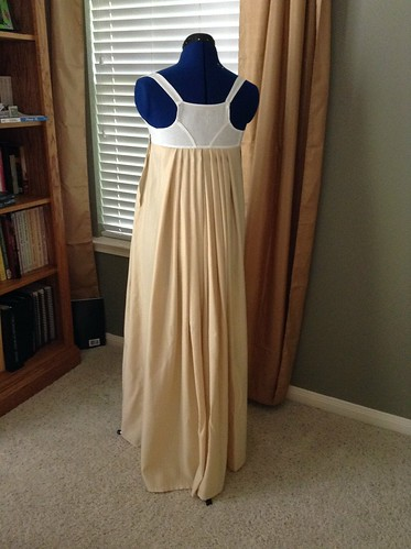 Tan Wool Petticoat - Back