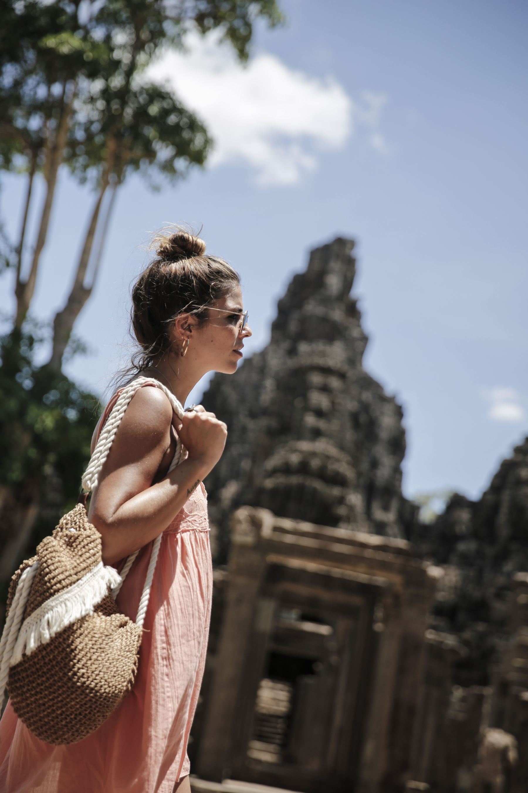 camboya cambodia angkor wat trendy taste summer trip outfit look dress sneakers stan smith vestido zapatillas asos adidas _25
