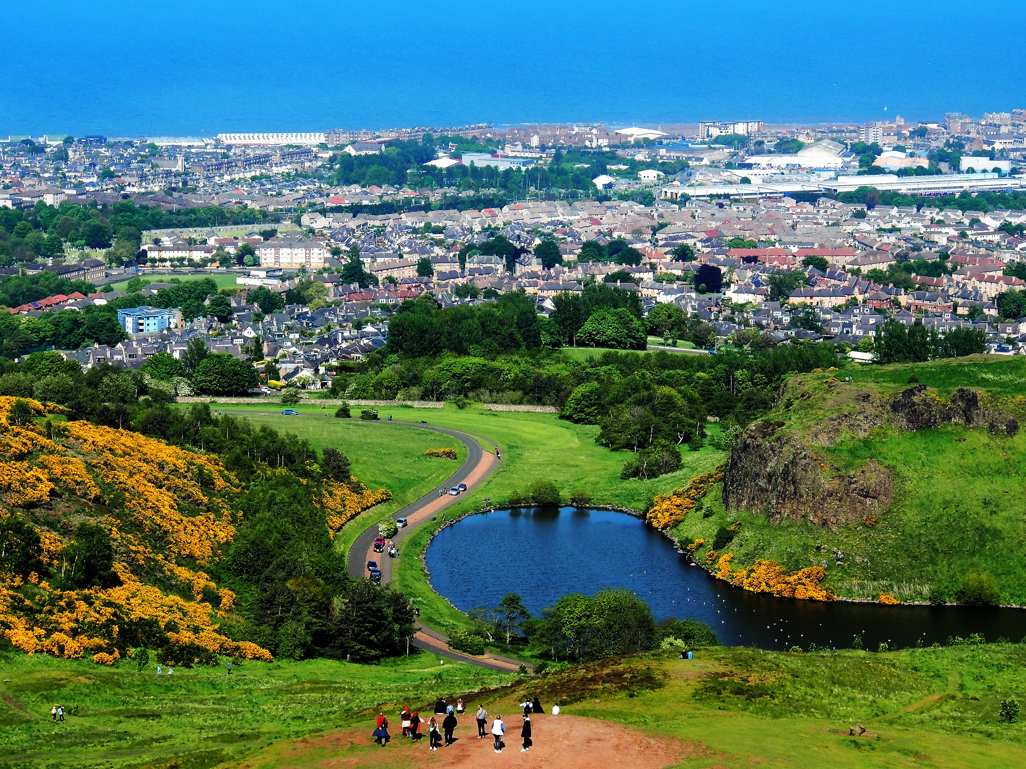 View of Leith and Firth of Forth from Arthur's Seat, Edinburgh.