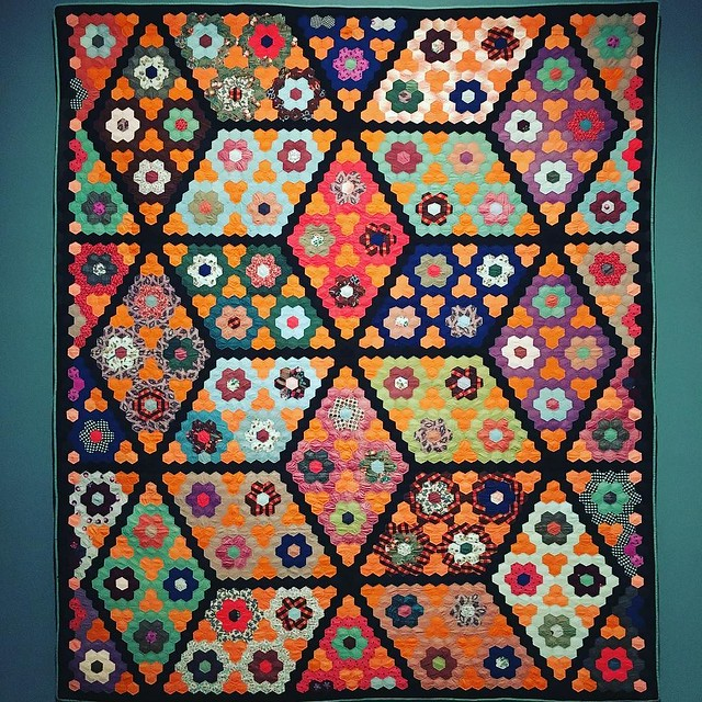 Quilts at San Diego Museum of Fine Art. Ahhh, so stunning. Got yelled at by a guard because I was looking at the stitch work a little too closely.
