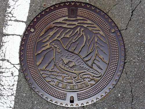 Ashiyasu Yamanashi, manhole cover (山梨県芦安村のマンホール)