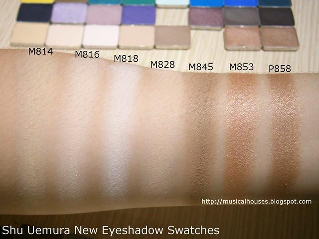 Shu Uemura Eyeshadows Swatches Neutrals Beiges
