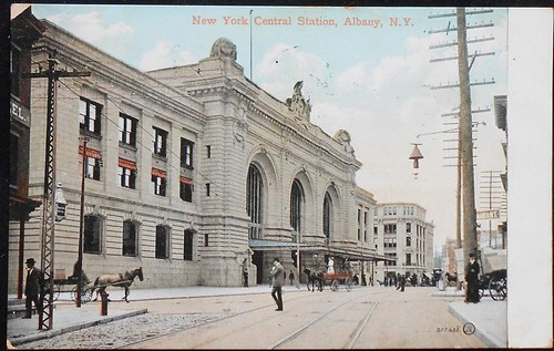 Union station broadway albany ny early 1900s