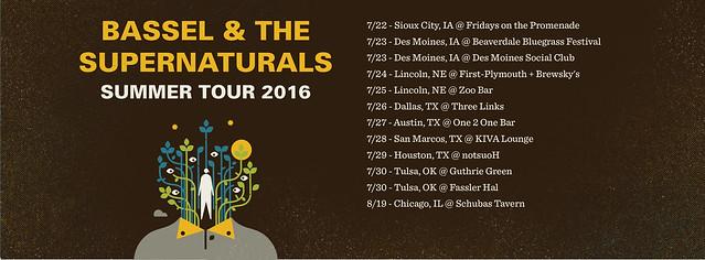 Bassel & The Supernaturals - Summer Tour 2016