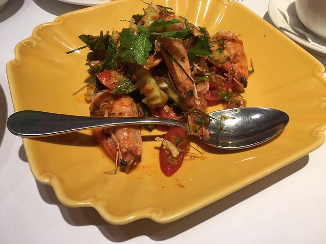 瓦城,香茅蝦沙律