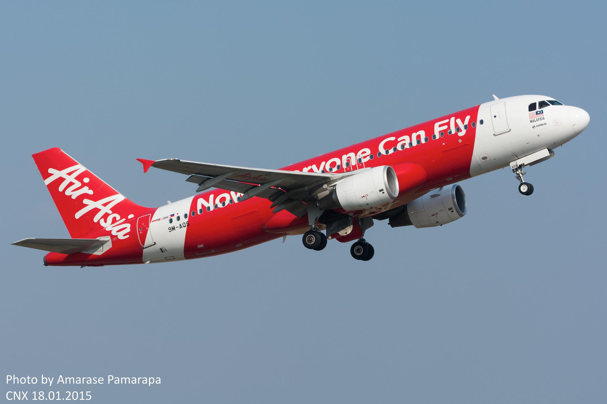 9M-AQS // AirAsia Airbus A320-216