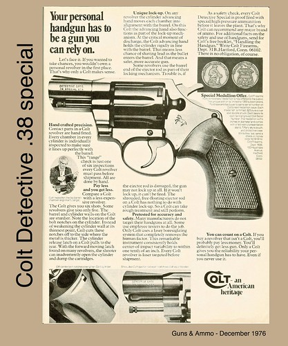 colt detective 1976 colt advertisement for a colt