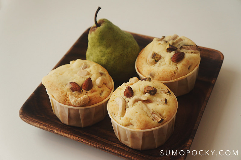 Pear and Cranberry Maple Muffins